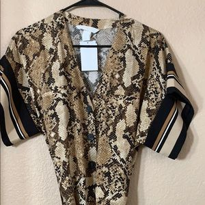 Animal print jumpsuit, never worn, with tags